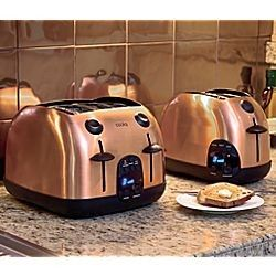 Copper Toaster Cooks 2 And 4 Slice Digital Toasters
