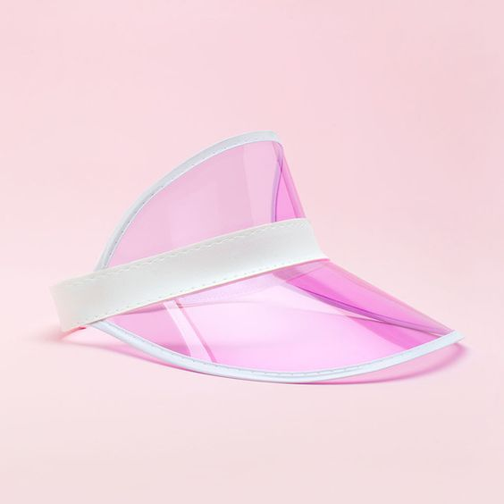 pink party visor ($10) ❤ liked on Polyvore featuring accessories and sun visor: