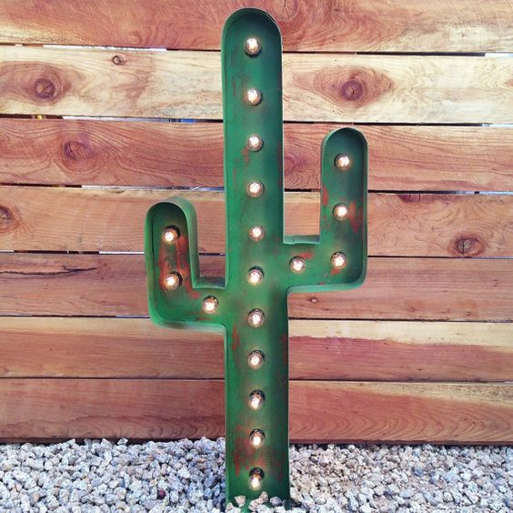 This listing is for one illuminated marquee CACTUS. Each one is handcrafted of steel and is completely customizable. If there is a particular size,