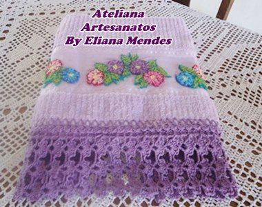 Ateliana  Artesanatos: Toalha de banho com o bordado Russo.