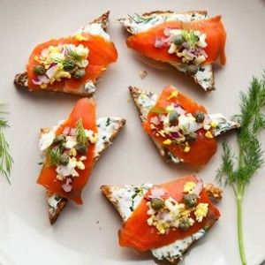 Smoked Salmon on Toast Points | Starters, Dips and Appertizers ...