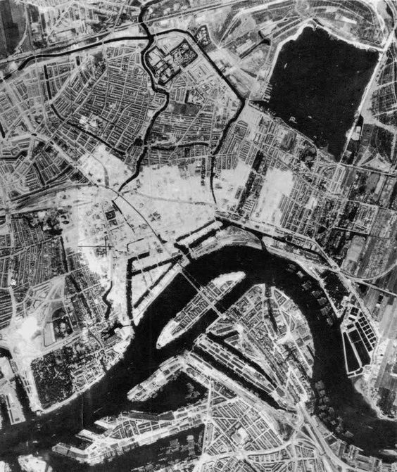 Rotterdam after the bombings in world war 2