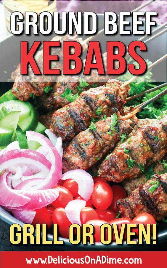 Ground Beef Kebabs (Grill or Oven)