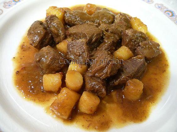 ternera, patatas, salsa, Recetario Mañoso