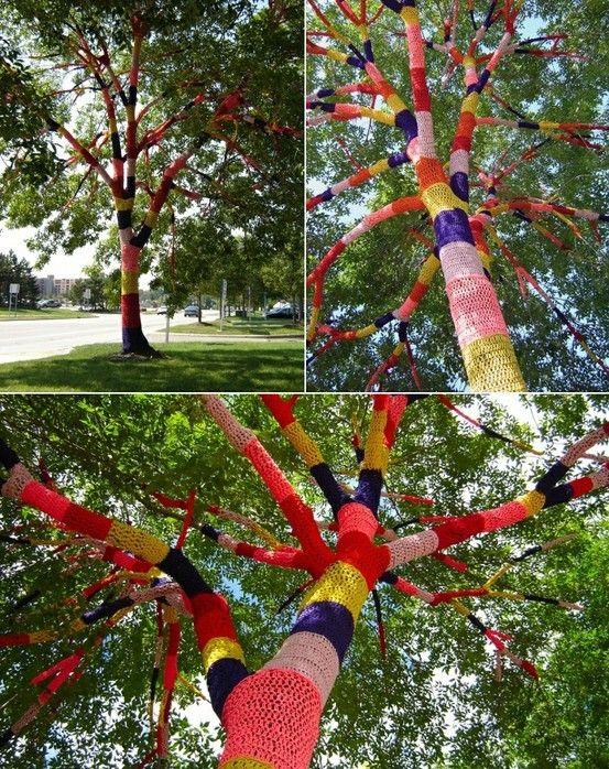 urban knitting #knitting funky tree :)