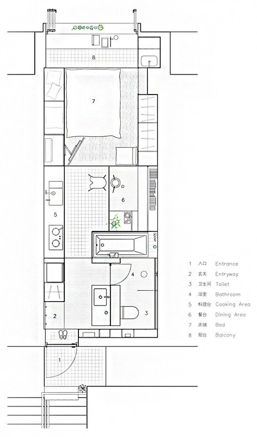 House Plans Under 50 Square Meters 26 More Helpful Examples Of Small Scale Living In 2020 Small House Plans House Plans Modern Floor Plans