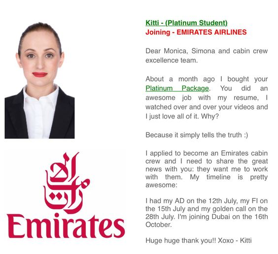 cv for emirates cabin crew
