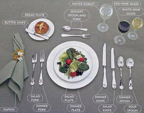 etiquette..... I love this.. I never know! I would love to send Macie to etiquette school when she is older