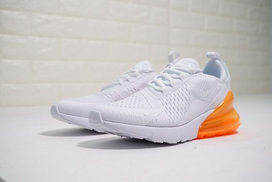 Newest Nike Air Max 270 White Orange Training Ah8050 102