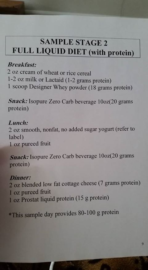 stage 3bariatric diet full liquid