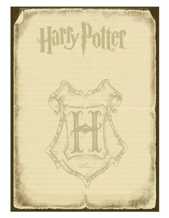 Plantillas De Cartas De Harry Potter Carta De Harry Potter Temática De Harry Potter Bricolaje Harry Potter