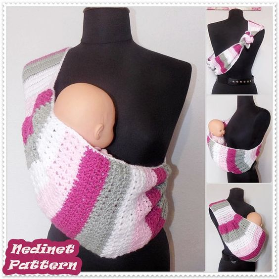 Free Crochet Pattern Baby Carrier : Crochet baby, Bags and Patterns on Pinterest