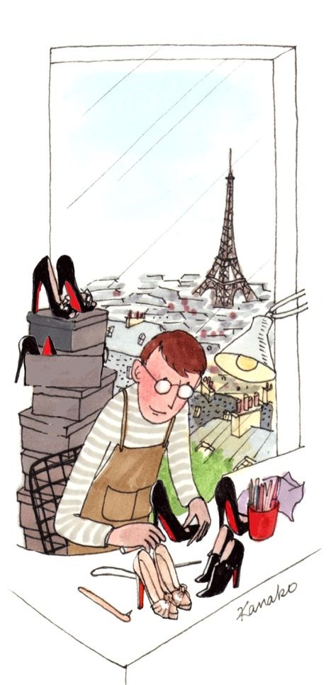 Parisian cobbler specialized in Louboutin red-soling   Kanako