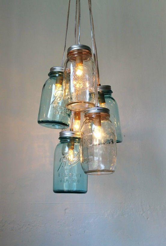 etsy chandelier lighting | Mason Jar Chandelier on Etsy by BootsNGus. by Keokierra