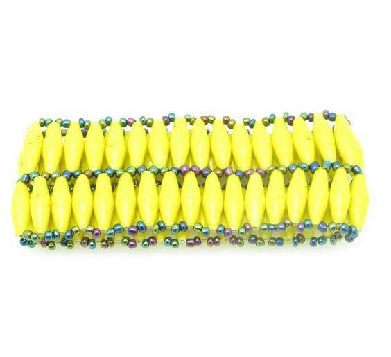 Yellow double wide bracelet