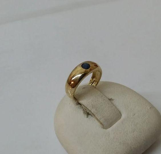 Taufring 585er Goldring mit Saphir 9 mm GR133 von myduttel auf Etsy