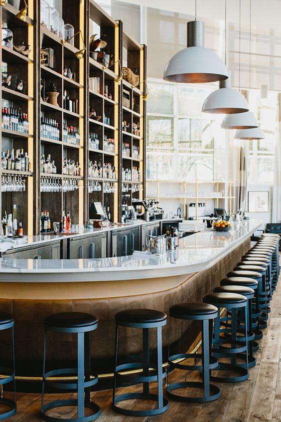 Tom Dixon lights. The Cool Hunter - St Cecilia Restaurant - Atlanta
