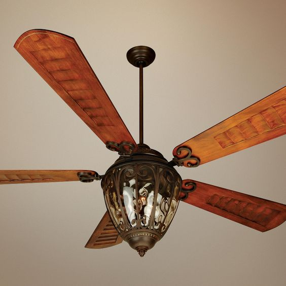"52 Casa Vieja Tropical Veranda Bronze Outdoor Ceiling Fan: 70"" Craftmade Olivier Aged Bronze Outdoor Ceiling Fan"