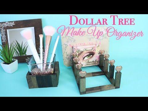 Dollar Tree Diy Makeup Organizer And Brush Holder Youtube