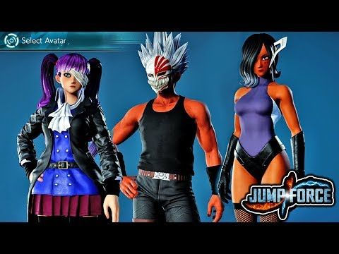 Jump Force New Open Beta Custom Characters Gameplay All New Custom Character Avatars Ps4 Youtube Seven Deadly Sins Anime Avatar Character