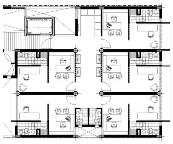 Cl nicas y consultorios m dicos arquitectura para vos for Planos de oficinas administrativas