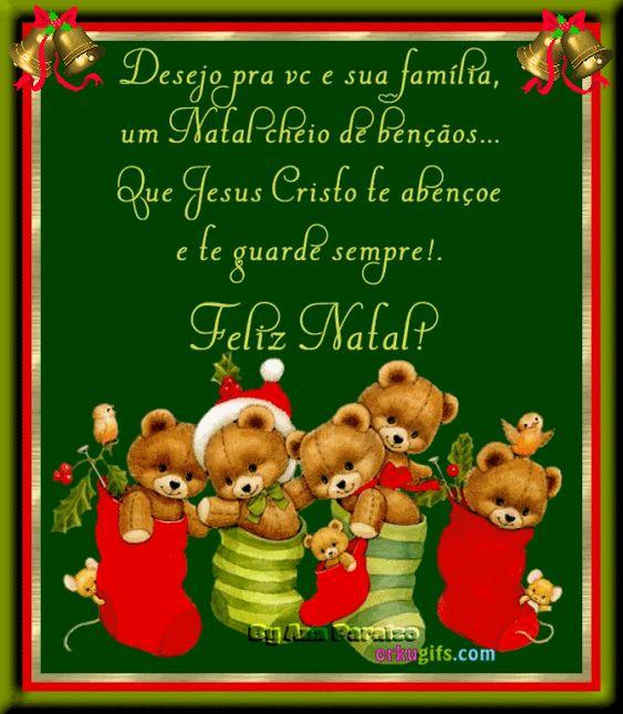 Desejo pra você e sua família, um natal cheio de bençãos…
