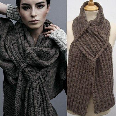 необычный вязанный шарф