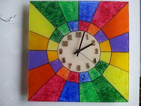 Uhr malerei auf glas von fantastico 1 auf DaWanda.com