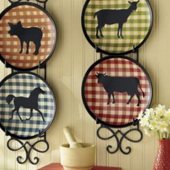 Farm Animal Plate Set - 4 Piece