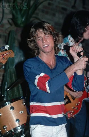Andy Gibb. Gone at age 30. For me as a young teen during his heyday, I had never seen anyone or anything so gorgeous in my life. One of my first pretty boy crushes.