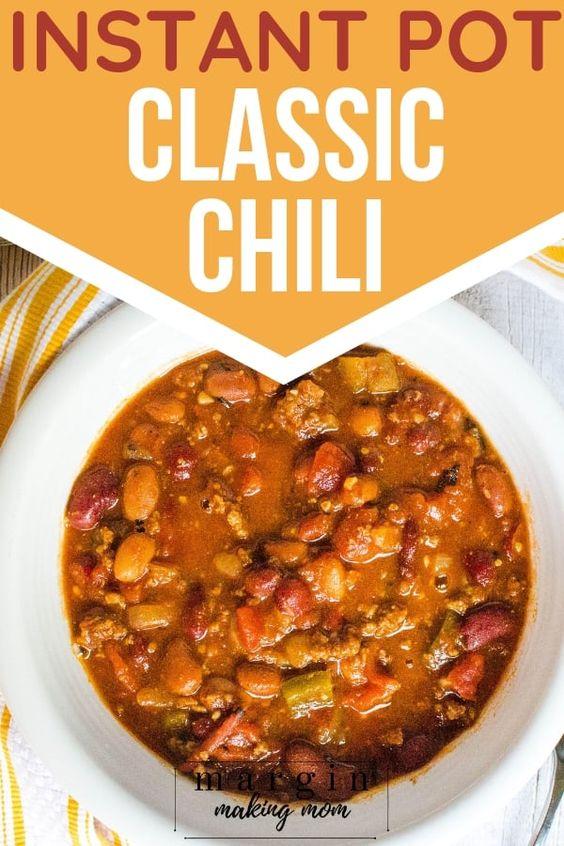 The Most Delicious Pressure Cooker Chili