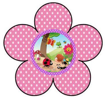 AQUARELINHA: Kit jardim encantado rosa e lilás poá