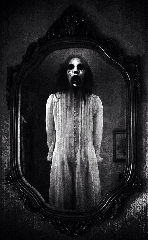 From the mirror ghostly scenes creepy image for Creepy gothic pictures
