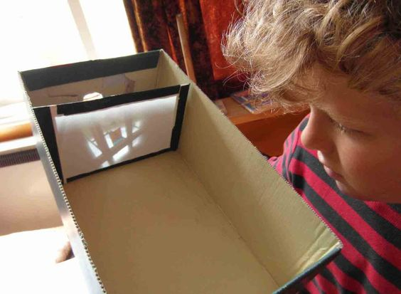 Camera Obscura construction  -- these shoe box obscuras use a lens and so might be more appropriate for your class