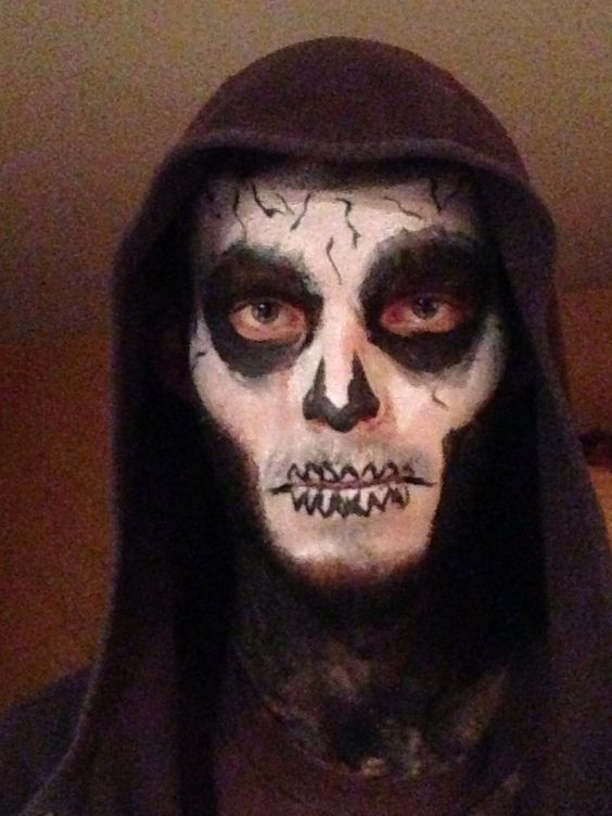 Grim Reaper Face Paint Instructions