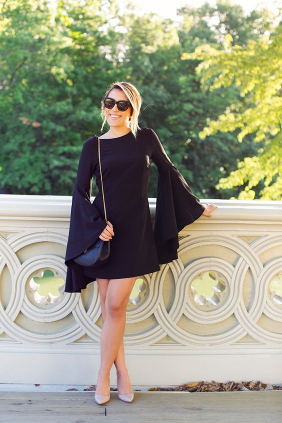 urban outfitters dress + manolo blahnik pumps... lbd & nude heels: