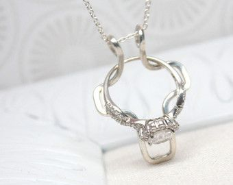 Diamond Ring Holder Necklace Wedding Ring Holder Necklace Ring