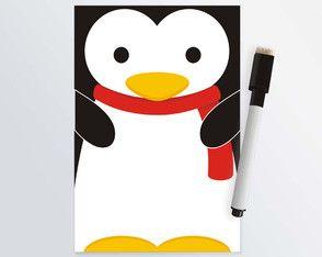 Lousa Magnética Pinguim 10x15cm