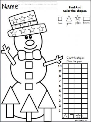 childrens coloring pages snowman shape - photo#26