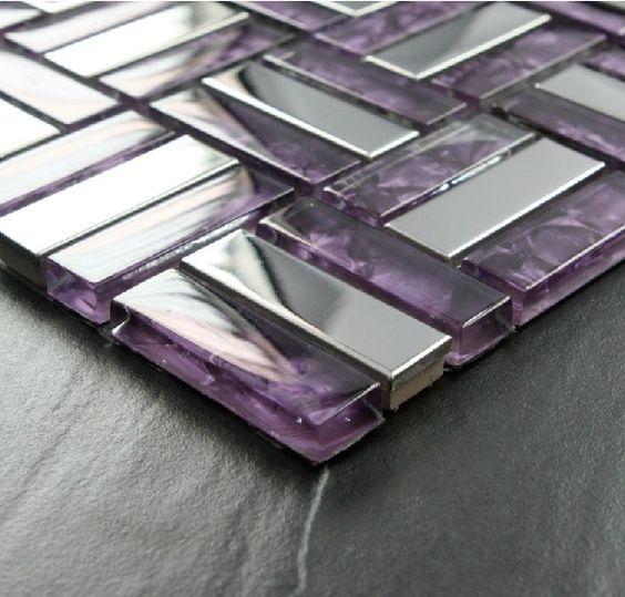 kitchen backsplash tile purple glass and backsplash tile on pinterest