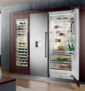 Amerikaanse koelkast wijn koelkast in keuken keuken pinterest link - Meubilair amerikaanse keuken ...
