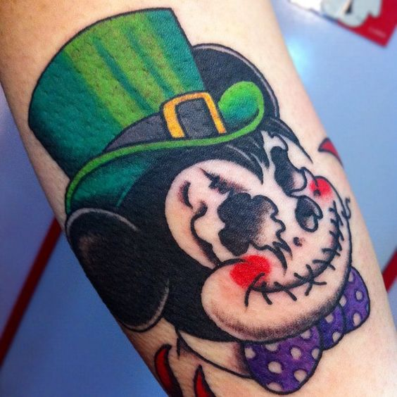 #skull #mickeymouse #tattoo #reikotattoo