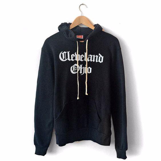 Cleveland Ohio Hoodie (Black)