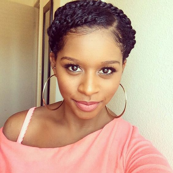 Halo Braids For Your Natural Hair Short Natural Hair Styles Natural Hair Styles Halo Braids