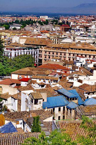 Grenade - Granada 458 El Albaicin, vue sur la ville
