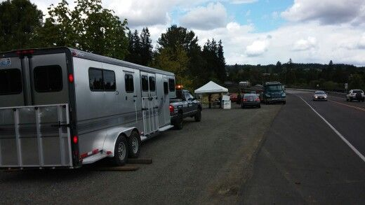 Sweet Horse Trailer that we #towed with #servicetruck 1 from #VancouverWA to #LaCenterWA  with #TLCTowing