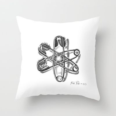 Safety Helix Throw Pillow by Kim Rose - $20.00