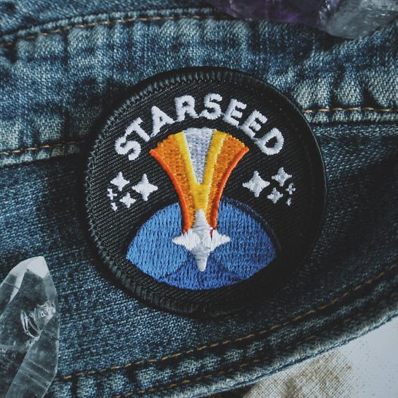 Starseed Patch New Age Esoteric Fashion 2 Iron On