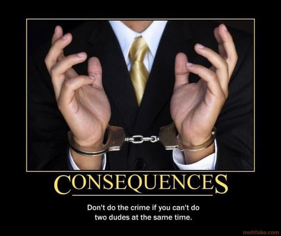 Consequences of your actions.