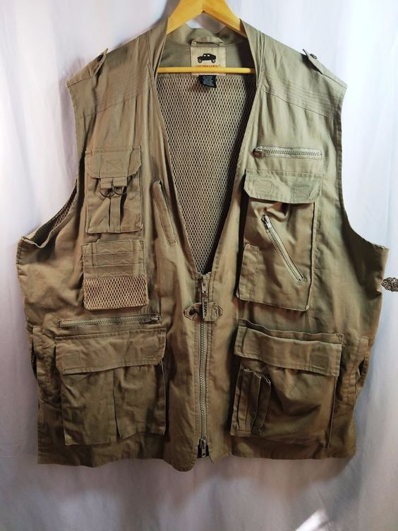 Humvee Campco Safari Photo Fishing Camping Vest Khaki 3xl Nwot